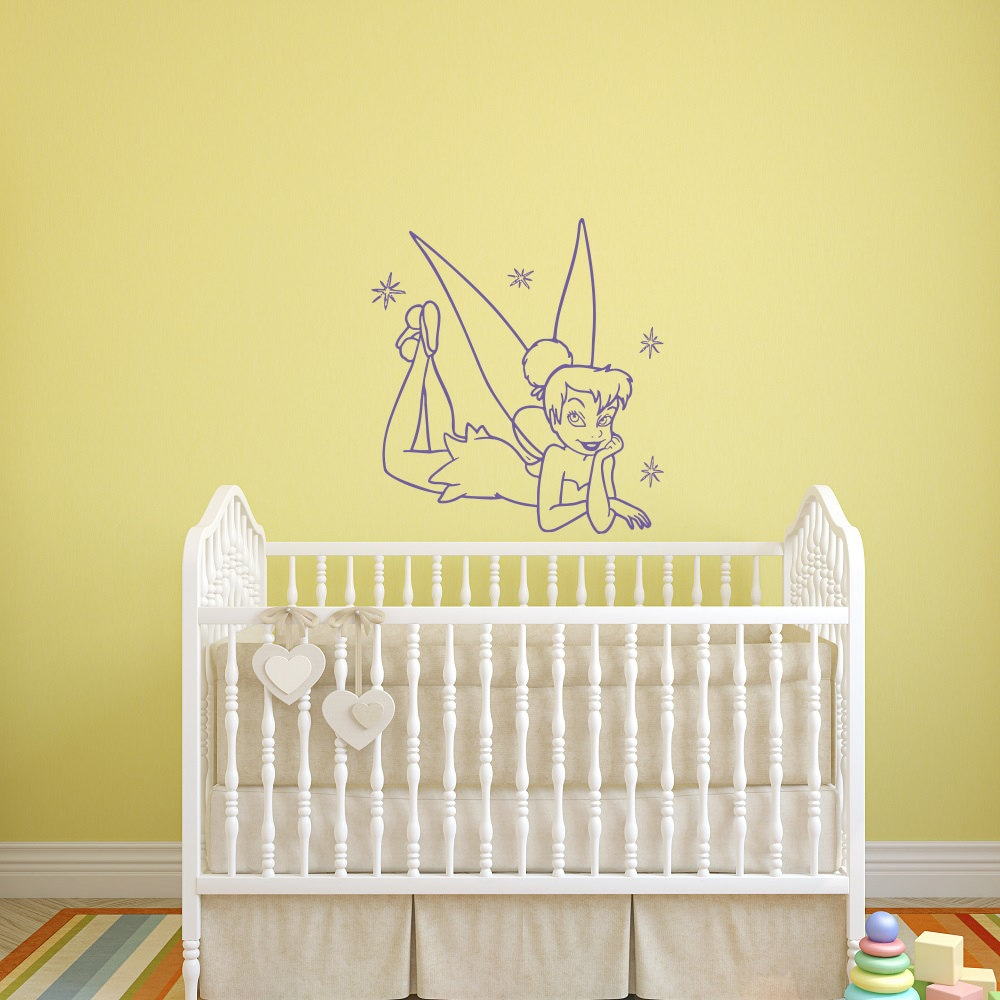 Tinkerbell Wall Decal Princess Fairy Girl Vinyl Wall Decals
