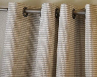 Curtain 1 Pair Of 25 Wide Panels Drapes Premier Prints Houndstooth Powder Grey
