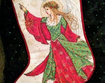 Angel of Joy Christmas Stocking