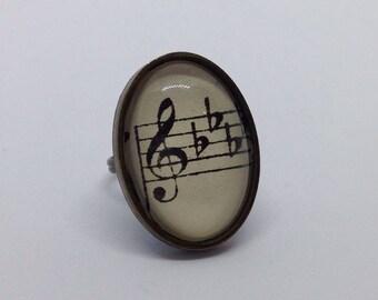 Vintage Book Ring - Music Score