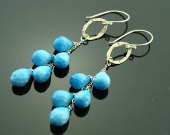 Cascade Turquoise 925 Sterling Silver Earrings
