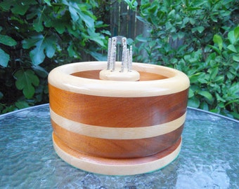 Vintage Nut Bowl Wood Made From 2 Different Woods
