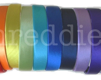 """20pc 1"""" wide satin headbands / alice bands // pick your colors"""