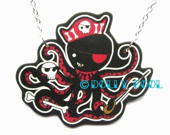 Collana di polpo pirata da Dolly Cool Super carino e Kawaii
