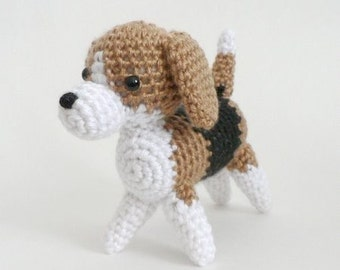 PDF AmiDogs Beagle amigurumi dog CROCHET PATTERN