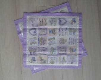 Pillow cover with lavender motive