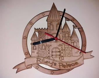 Personalised Princess Castle Clock