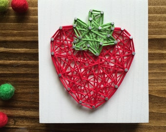 MADE TO ORDER String Art Mini Strawberry Sign