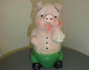 Vintage Chalkware Carnival Pig Vintage Chalkware Pig Vintage Pig Crying Pig Vintage Carnival Prize Carnival Souviner