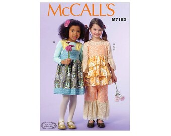 McCall's 7183 - Children's/Girls' Ruffled Top, Jumpers, and Pants