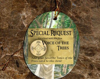 Special Request Celtic Tree Ogham Voice of the Trees Ornament/ Car Charm