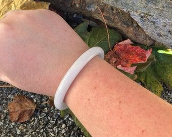Small white Quartz bracelet/bangle