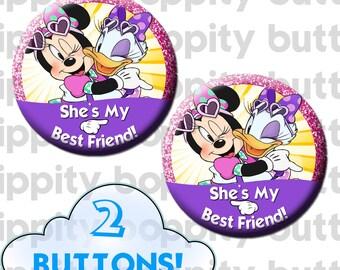 Disney Minnie + Daisy Best Friends Buttons (2)