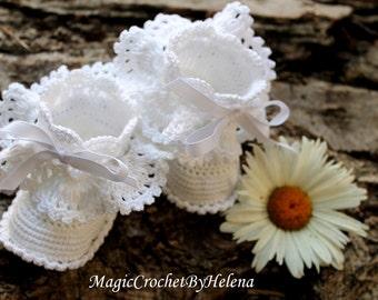 Crochet Baby Booties! Newborn Girl ! Lovely crochet booties!