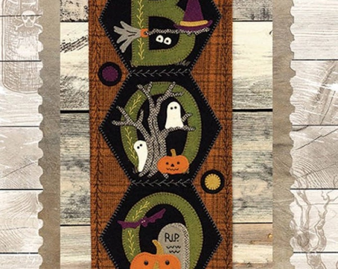 """Pattern: A Year of Hexi """"WORD"""" Door Greeters - October """"BOO"""" by Buttermilk Basin"""