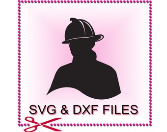 Fireman SVG Files for Cutting Cricut Firefighter DXF Designs - SVG Files for Silhouette - Instant Download
