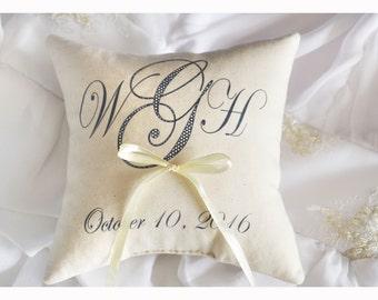 Portatore cuscino anello personalizzato, anello nuziale cuscino, cuscino del matrimonio, cuscino personalizzato l'anello, anello cuscino portatore (R3)