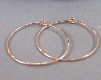 Rose Gold Hoops,Hoop,Earring,Earrings,Rose Gold Earrings,Rose Gold,Gold Filled,Leaf Earrings,Hammered,Hammered Earrings.SeaMaidenJewelry