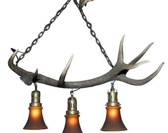 Chalet chandelier etsy antler chandelier aloadofball Gallery