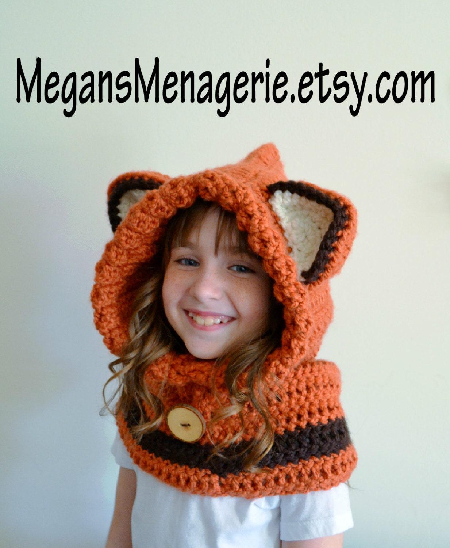 Fox hat fox hoodie fox cowl animal hat hooded scarf zoom bankloansurffo Images