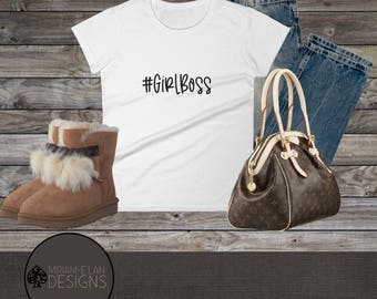 Girl Boss Tee | Customization Tee | Women's Personalized T-shirt | Girl Boss Shirt | Girl Boss Shirt | Gifts for Her | Coming Home Gift