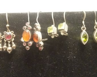 Four pairs of Sterling Silver Earrings