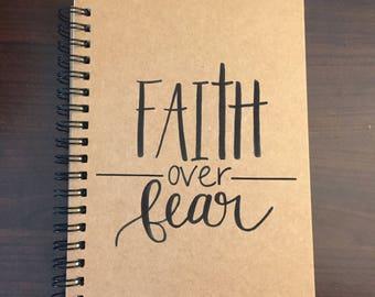 Faith Over Fear Notebook - Black