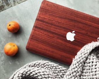 Macbook Wood Case for Apple Macbook Air Pro - Padauk Wood Macbook Case Skin Sticker