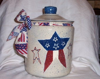 Americana cookie jar PERSONALIZED FREE!!!