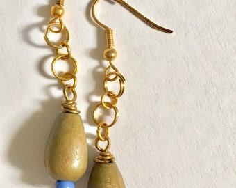Summer chainlink teardrop earrings