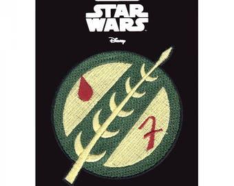 Official Disney Star Wars Boba Fett Mandalorian Crest Bounty Hunter Iron On Embroidered Lucas-film Patch