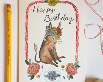 Birthday Burro Card