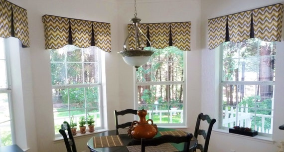 Custom Window Valance Emilee Hidden Rod Pocket 174 Valance To Fit