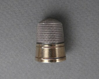 Sterling and gold plated thimble