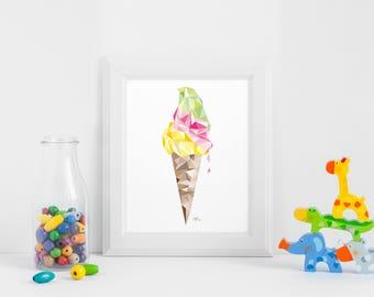 """""""Ice"""" - 30 x 40 poster"""