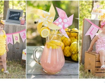 Pinwheels - Pink Lemonade Party - Set of 8 Pinwheels