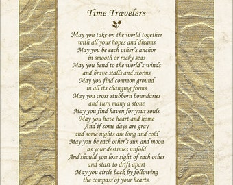 Wedding poem - TIME TRAVELERS, by Terah Cox (Also Commitment, Anniversary)