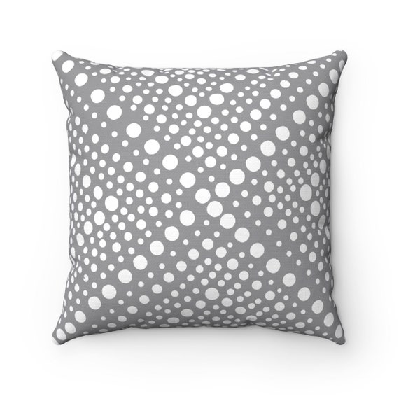 OUTDOOR Throw Pillow . Gray Outdoor Pillow White Patio Cushion . Modern Geometric Outside Pillow . Outdoor Pillow 16 18 20 inch . Bolster