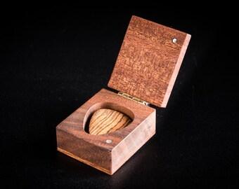 one custom engraved guitar pick box choose wood type. Black Bedroom Furniture Sets. Home Design Ideas