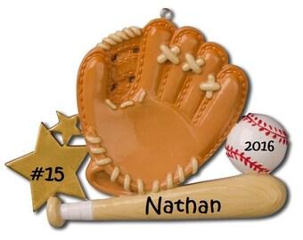 Cute Custom Baseball Ornament, Baseball Enthusiast Ornament, Custom Baseball Player Ornament