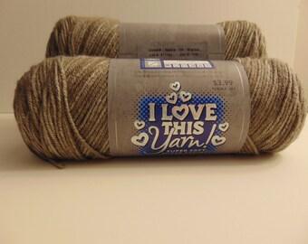 Noyer - je peignée amour ce fil panaché 100 % acrylique - 3016