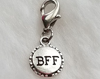 Best Friend BFF Round Charm - Clip-On - Ready to Wear