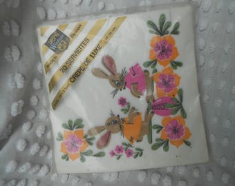 Retro Paper Napkins - Welcome to Our Home - Squirrel Napkins - Housewarming Napkins - Vintage Paper Napkins - Ready to Ship