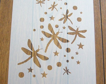 Dragonfly Stencil Mask Reusable Mylar Sheet for Arts & Crafts