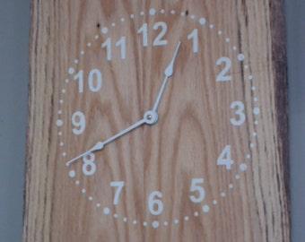 Reclaimed Wood Clock  13x16