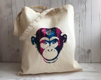 Colourful Monkey Tote Bag