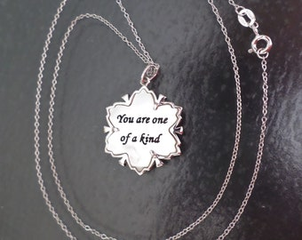 Sterling Silver 925 Stamped, Made in China, MA Signed, Inspirational Pendant Necklace.