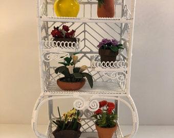 Garden Shelf with Flowers