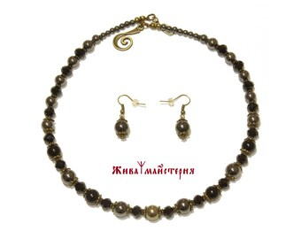 Pyrite hematite agate crystal necklace - crystal necklace - pyrite necklace - hematite necklace - agate necklace - birthday - valentine