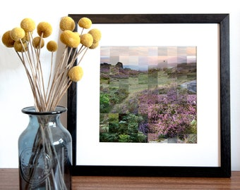 Higger Tor Print - Peak District Art - Heather Wall Art - Kate Cooper Photography